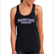 - Ladies Solid Gathered Racerback Tank