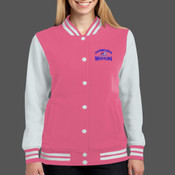 - LST270 Ladies Fleece Letterman Jacket
